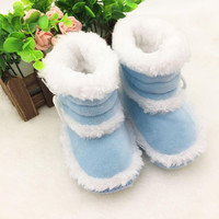 0-18 Months Toddler Baby Warm Booties Girls Boy Soft Sole Boots Crib Infant Shoes Prewalkers PY3 SM6