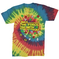 May The Force Be With You Ugly Christmas Mens Tie-Dye T-shirt