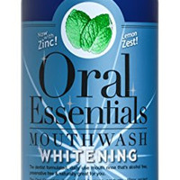 Oral Essentials Teeth Whitening Mouthwash 16 Oz. For Daily Use Without Sensitivity: Dentist Formulated & Certified Non-Toxic: Removes Stains without Bleach or Harsh Chemicals. Whiter Teeth in 10 Days