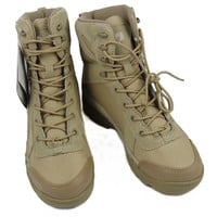 Sand Black Tactical Boots Combat Army Military Boots Men Leather Wearable Shoes size 39 40 41 42 43 44 45