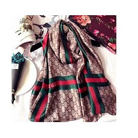 GUCCI Fashion Women Easy to match Silk Scarf-2