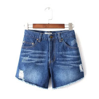 Women's Summer Denim Shorts [7279003783]