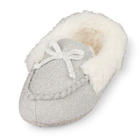Toddler Girls Glitter Moccasin Slippers | The Children's Place