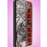 iron man 3 pen drawing- iphone case cover- iPhone 4 / iPhone 4S / iPhone 5 / Samsung S2 / Samsung S3 / Samsung S4 Case Cover (YT )
