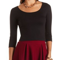 Twist-Back Cotton Crop Top by Charlotte Russe