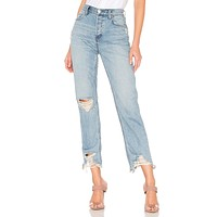 Free People Chewed Up Mid-Rise Straight