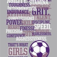 Girls Soccer T-Shirt: Girls Are Made of Soccer-Adult Large