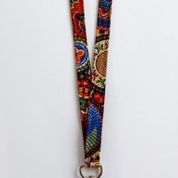 Tribal Lanyard / Aztec Print / Boho Keychain / Tribal Print Lanyard / Bohemian / Key Lanyard / ID Badge Holder / Tribal Pattern / Southwest