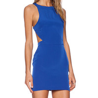 Assali Rake Mini Dress in Royal