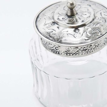 Silver Glass Jar - Urban Outfitters