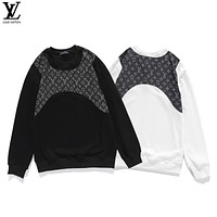 Louis Vuitton new autumn and winter jackets, old flower LOGO vest decoration, round neck sweater