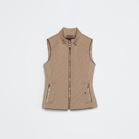 Quilted waistcoat with piping