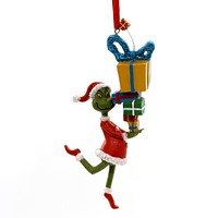 Holiday Ornaments GRINCH STEALING PRESENTS Polyresin Department 56 4057459
