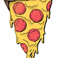 Pizza Party Wall Decal