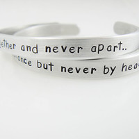Mother's Day, stamped bracelet, friends set, hand stamped, mother daughter jewelry, together forever, price for a set