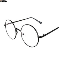 Vintage Round Glasses Female Brand Designer gafas De Sol Spectacle Plain Glasses Gafas De Sol Oculos Masculino Harry Potter