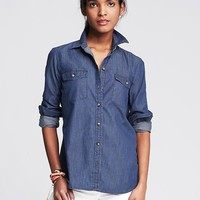 Banana Republic Womens Soft Wash Denim Shirt