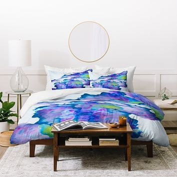 Viviana Gonzalez Watercolor love 2 Duvet Cover