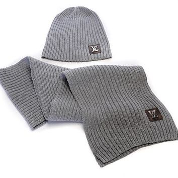LV knitted hat & Scarf 012#