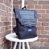 Backpack black hipster backpack rucksack cycling bag waterproof small mini backpack Zurichtoren geometric simple minimalist backpack