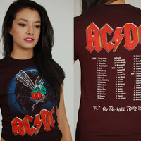 AC/DC 1985 Fly on the Wall Tour Shirt Original Never Worn Vintage 80s