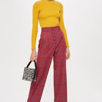 Check Slouch Trousers | Topshop