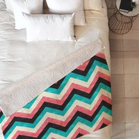 Jacqueline Maldonado Chevron Bold Fleece Throw Blanket