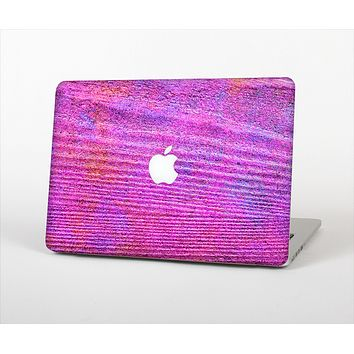 """The Neon Pink Dyed Wood Grain Skin Set for the Apple MacBook Air 13"""""""