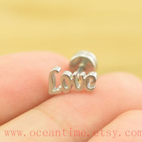 love helix Earring Jewelry,love tragus piercing jewelry,ear Helix Cartilage jewelry,earring,oceantime
