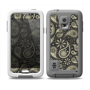 The Black & Vintage Green Paisley Skin Samsung Galaxy S5 frē LifeProof Case