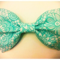 Medium Lacy Blue Hair Bow