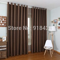 Finish Product Linen Thicken 900g Thermal Insulated Sound Insulation Blackout Curtains,Modern Living Room Curtains