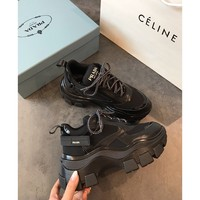 Prada Block Sneakers Black - Best Online Sale