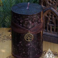 Old World Alchemy . 3x4 Pillar Candle . Old Ways Pagan Traditions, Spells and Magick, Old World Illumination