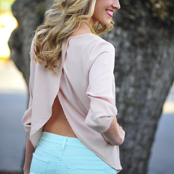 Cater To You Blouse: Light Mocha | Hope's