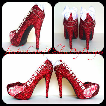 Detroit Red Wings Glitter High Heels