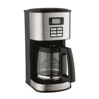 12 Cup Stainless Steel Coffee Maker Automatic Coffee Machine with Carafe Black