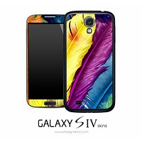Neon Feathers Skin for the Galaxy S4