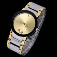 Men Watches Band Stainless Steel Sport Quartz Analog Dial Wrist Watch