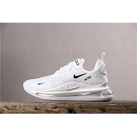 Newest Nike Air Max 720 White/ Black Running Shoes