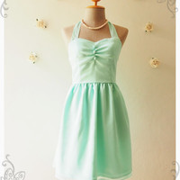 BLOOM : Mint green dress vintage inspired party dress prom dress evening dress mint green bridesmaid dress party dress - size s, m ,l