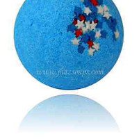 BATH BOMB FIZZY BLUE COCONUT SCENT LUSH & LUXURIOUS 2.5 oz. GREAT FOR DRY SKIN