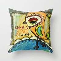 Song In Your Heart Throw Pillow by MistyMichelleDesign   Society6