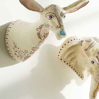 Plum & Bow Henna Painted Doe Wall Sculpture- Neutral One
