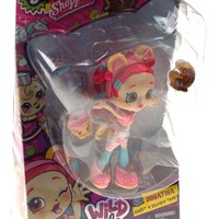 Shopkins Shoppies Wild Style Donatina Sweet N Squishy Tribe Doll Stand Exclusive