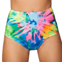 Tie Dye High-Waisted Rave Bottoms