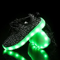 2016 New brand USB LED lighted up children shoes recharged Cool high quality girls boys shoes fashion baby kids sneakers