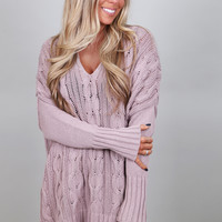 What I Want Oversized Knit {Lavender}