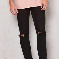 PacSun Skinny Ripped Black Stretch Jeans at PacSun.com