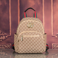 Gucci Women Fashion Embroidery School Bookbag Backpack
